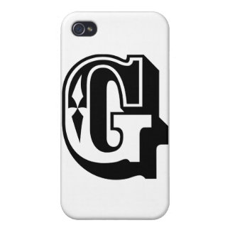 """""""G"""" is for Gangsta - Alphabet Letter Tee Covers For iPhone 4"""