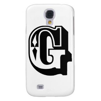 """G"" is for Gangsta - Alphabet Letter Tee Samsung S4 Case"