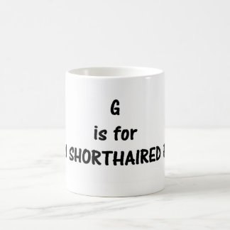 g is for German Shorthaired pointer Coffee Mug