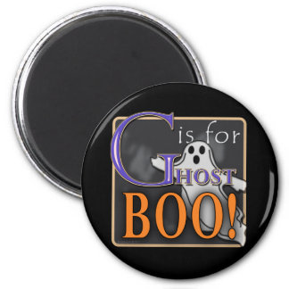 G Is For Ghost BOO! 2 Inch Round Magnet