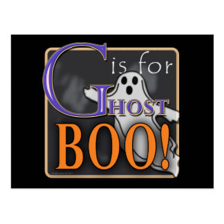 G Is For Ghost BOO! Postcard