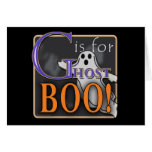 G Is For Ghost BOO! Stationery Note Card