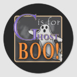 G Is For Ghost BOO! Sticker