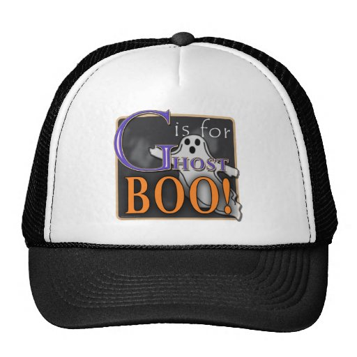 G Is For Ghost BOO! Trucker Hat