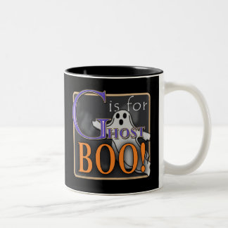 G Is For Ghost BOO! Two-Tone Coffee Mug