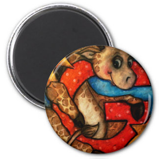 G is for Giraffe 2 Inch Round Magnet