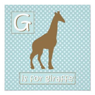 """G"" is for Giraffe Baby Shower Invitations"