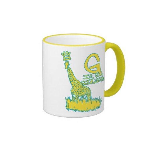 G is for Giraffe Coffee Mug