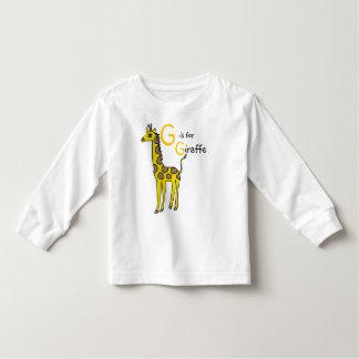 G is for Giraffe T shirt