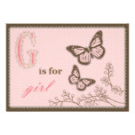 G is for Girl Invitation Card