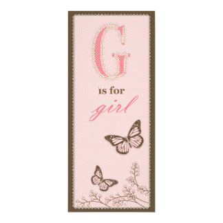 G is for Girl Menu Card