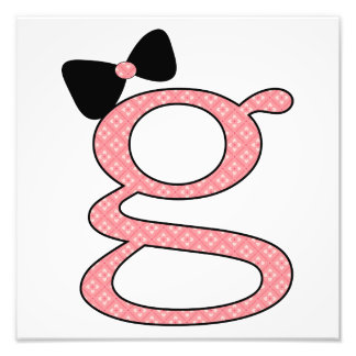 G - is for Girl - Nursery Art - Modern Photo Print
