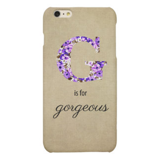 G is for Gorgeous iPhone 6 Plus Matte iPhone 6 Plus Case