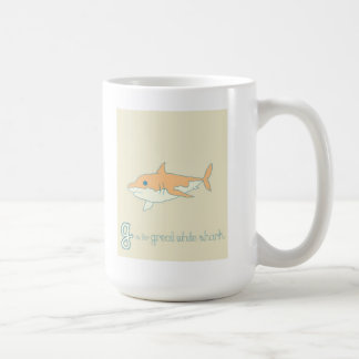 G is for Great White Shark Coffee Mug