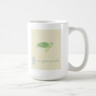 G is for Green Sea Turtle Coffee Mug