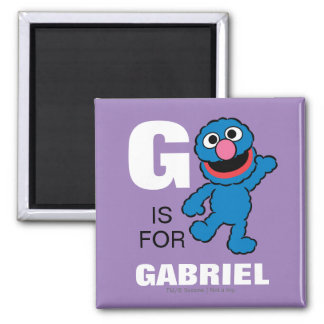G is for Grover 2 Inch Square Magnet