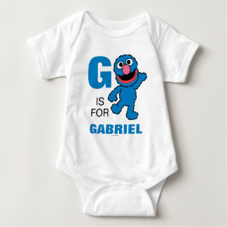 G is for Grover | Add Your Name Baby Bodysuit