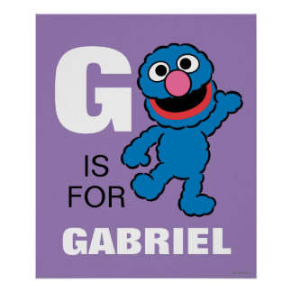 G is for Grover | Add Your Name Poster