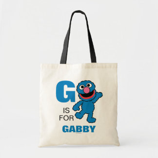 G is for Grover | Add Your Name Tote Bag