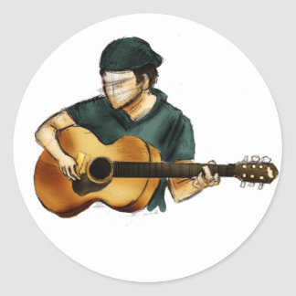 G is for Guitar Classic Round Sticker