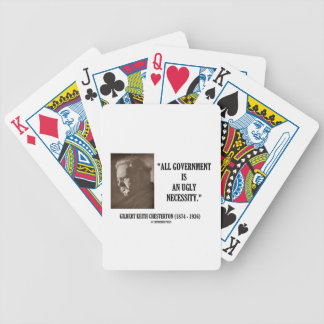 G.K. Chesterton All Government Is Ugly Necessity Bicycle Playing Cards