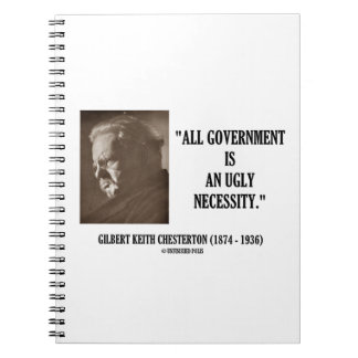 G.K. Chesterton All Government Is Ugly Necessity Notebook