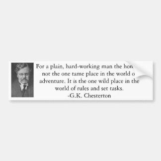 G.K. Chesterton Car Bumper Sticker