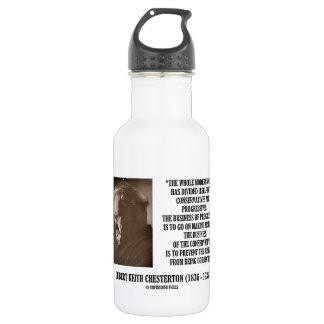 G.K. Chesterton Conservatives Progressives Mistake Stainless Steel Water Bottle