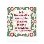 G.K. Chesterton en arte y moralidad Postal
