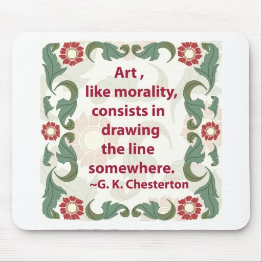 G.K. Chesterton en arte y moralidad Alfombrillas De Ratón