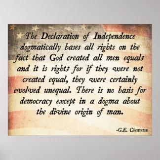 G.K. Chesterton God Equality Poster