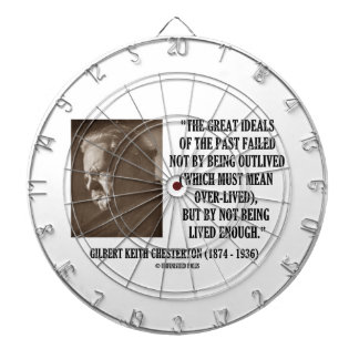 G.K. Chesterton Great Ideals Of The Past Not Lived Dartboard With Darts
