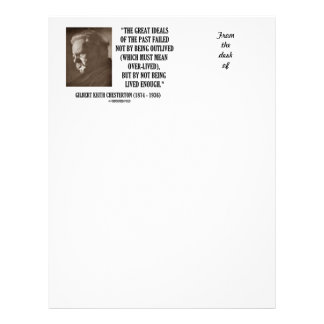 G.K. Chesterton Great Ideals Of The Past Not Lived Letterhead