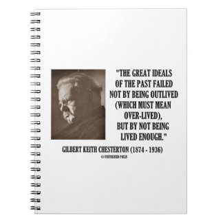 G.K. Chesterton Great Ideals Of The Past Not Lived Notebook