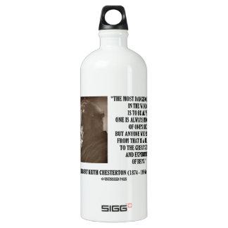 G.K. Chesterton Great Scheme Experiment Of Being Aluminum Water Bottle