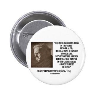 G.K. Chesterton Great Scheme Experiment Of Being 2 Inch Round Button