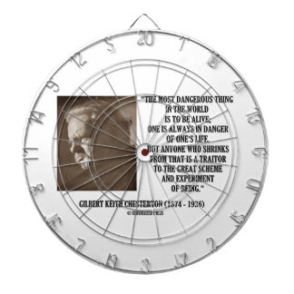 G.K. Chesterton Great Scheme Experiment Of Being Dartboard