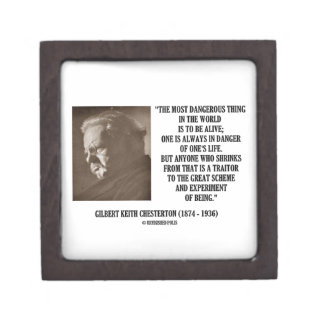 G.K. Chesterton Great Scheme Experiment Of Being Premium Jewelry Boxes