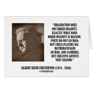 G.K. Chesterton Imagination Insanity Creative Greeting Card