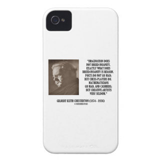 G.K. Chesterton Imagination Insanity Creative Case-Mate iPhone 4 Case