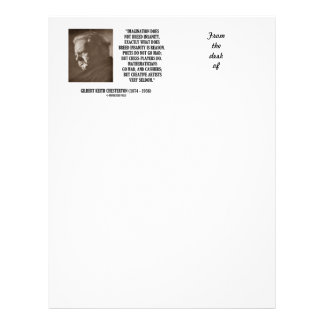 G.K. Chesterton Imagination Insanity Creative Letterhead