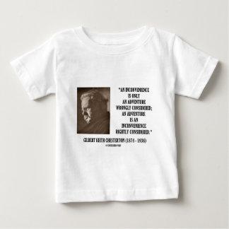 G.K. Chesterton Inconvenience Adventure Considered Baby T-Shirt