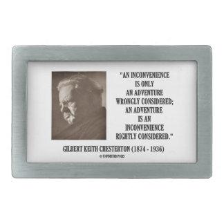 G K Chesterton Inconvenience Adventure Considered Rectangular Belt Buckle