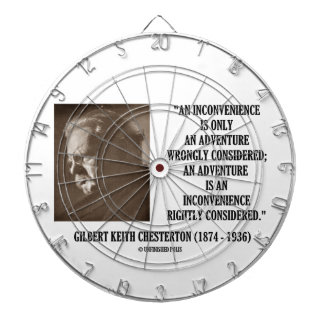 G K Chesterton Inconvenience Adventure Considered Dartboard