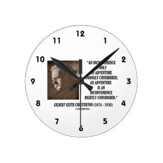 G.K. Chesterton Inconvenience Adventure Considered Round Clock