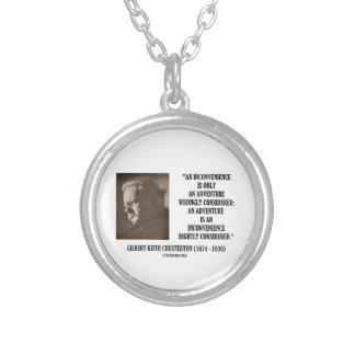 G.K. Chesterton Inconvenience Adventure Considered Silver Plated Necklace