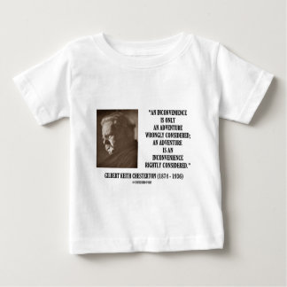 G.K. Chesterton Inconvenience Adventure Considered Tshirts