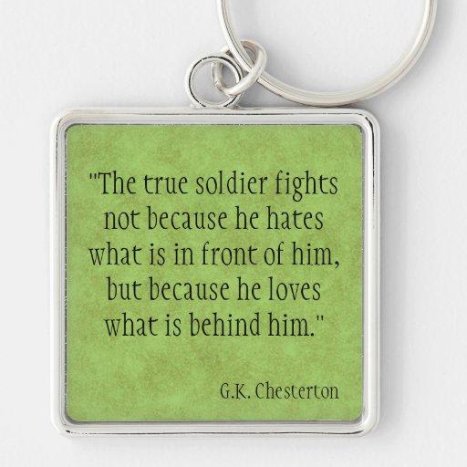G.K. Chesterton Keychains