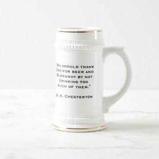 G. K. Chesterton 18 Oz Beer Stein