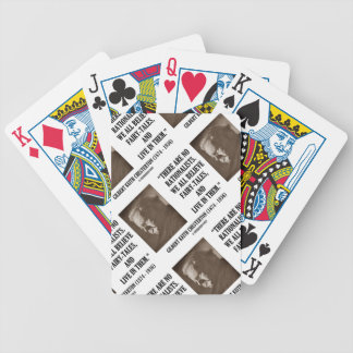 G.K. Chesterton No Rationalists All Believe Quote Bicycle Playing Cards